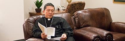 priests relaxing